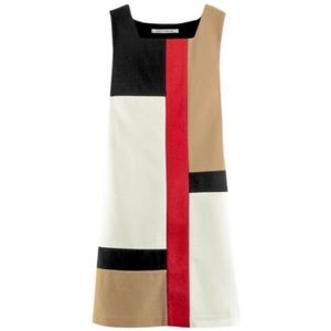 DVF | Mondrian sleeveless colorblock shift dress